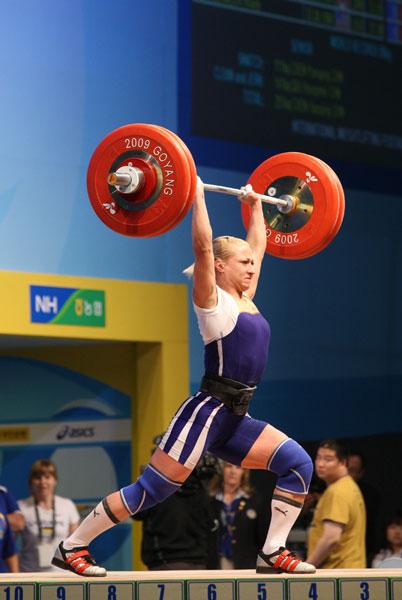 Юлия Калина заняла четвертое место на чемпионате мира по тяжелой атлетике