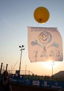 Затяжной взлет на юг флага «Хрустальной ракетки»